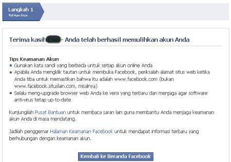 facebook kembali pulih